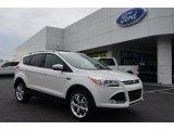 2013 White Platinum Metallic Tri-Coat Ford Escape Titanium 2.0L EcoBoost #75669561