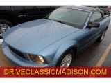 2007 Windveil Blue Metallic Ford Mustang V6 Deluxe Convertible #75669807