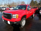 2013 Fire Red GMC Sierra 3500HD Regular Cab 4x4 #75669796