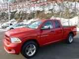 2012 Flame Red Dodge Ram 1500 Express Quad Cab 4x4 #75669659