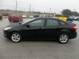 Black Ford Focus in 2012