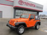 2012 Crush Orange Jeep Wrangler Sport 4x4 #75669498