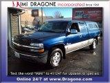 2000 Indigo Blue Metallic Chevrolet Silverado 1500 LS Extended Cab 4x4 #75669631