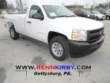 2013 Summit White Chevrolet Silverado 1500 Work Truck Regular Cab 4x4 #75669739