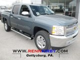 2013 Blue Granite Metallic Chevrolet Silverado 1500 LT Crew Cab 4x4 #75669735