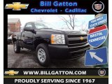 2013 Black Chevrolet Silverado 1500 Work Truck Regular Cab 4x4 #75669992