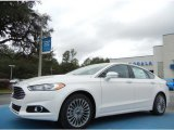 2013 White Platinum Metallic Tri-coat Ford Fusion Titanium #75669449