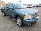 2011 Blue Granite Metallic Chevrolet Silverado 1500 LTZ Crew Cab 4x4 #75669862