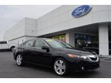 2010 Crystal Black Pearl Acura TSX V6 Sedan #75669568