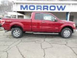 2013 Ruby Red Metallic Ford F150 Lariat SuperCab 4x4 #75726470