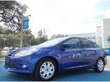 2012 Sonic Blue Metallic Ford Focus SE Sedan #75726456