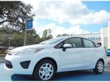 2013 Oxford White Ford Fiesta S Sedan #75726450