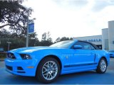 2013 Grabber Blue Ford Mustang V6 Premium Convertible #75726438