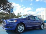 2013 Deep Impact Blue Metallic Ford Fusion SE 1.6 EcoBoost #75726437