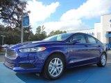 2013 Deep Impact Blue Metallic Ford Fusion SE #75726436