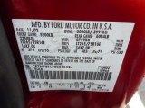 2003 F250 Super Duty Color Code for Toreador Red Metallic - Color Code: FN