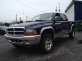 2004 Patriot Blue Pearl Dodge Dakota SLT Quad Cab 4x4 #75787822