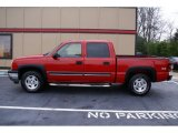 2005 Sport Red Metallic Chevrolet Silverado 1500 Z71 Crew Cab 4x4 #75787805
