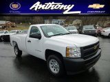 2013 Summit White Chevrolet Silverado 1500 Work Truck Regular Cab #75787789