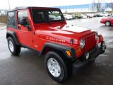 2005 Jeep Wrangler Flame Red