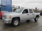 2013 Silver Ice Metallic Chevrolet Silverado 1500 LT Crew Cab 4x4 #75786495
