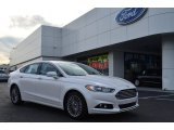 2013 White Platinum Metallic Tri-coat Ford Fusion Titanium AWD #75787589