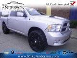 2011 Bright Silver Metallic Dodge Ram 1500 Sport Crew Cab 4x4 #75787026