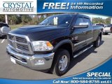 2010 Brilliant Black Crystal Pearl Dodge Ram 3500 Laramie Crew Cab 4x4 #75786856