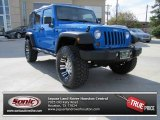 2011 Cosmos Blue Jeep Wrangler Unlimited Rubicon 4x4 #75787741