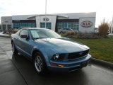 2005 Windveil Blue Metallic Ford Mustang V6 Deluxe Coupe #75787705