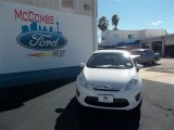 2013 Oxford White Ford Fiesta S Sedan #75787506