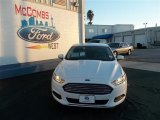 2013 Oxford White Ford Fusion S #75787499