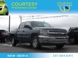 2012 Blue Granite Metallic Chevrolet Silverado 1500 LT Crew Cab #75786946