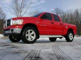 2006 Flame Red Dodge Ram 1500 SLT Quad Cab 4x4 #75786939