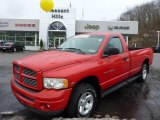 2002 Flame Red Dodge Ram 1500 SLT Regular Cab 4x4 #75786771