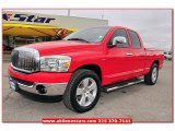 2006 Flame Red Dodge Ram 1500 SLT Quad Cab #75871390