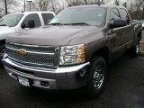 2013 Mocha Steel Metallic Chevrolet Silverado 1500 LS Crew Cab 4x4 #75880670