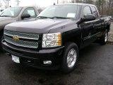 2013 Black Chevrolet Silverado 1500 LT Extended Cab 4x4 #75880666