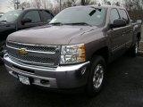 2013 Mocha Steel Metallic Chevrolet Silverado 1500 LT Crew Cab 4x4 #75880665