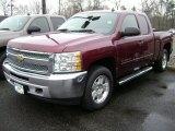 2013 Deep Ruby Metallic Chevrolet Silverado 1500 LT Extended Cab 4x4 #75880664