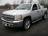 2013 Silver Ice Metallic Chevrolet Silverado 1500 LT Extended Cab 4x4 #75880648