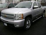 2013 Silver Ice Metallic Chevrolet Silverado 1500 LTZ Crew Cab 4x4 #75880645