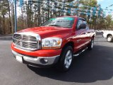 2006 Flame Red Dodge Ram 1500 SLT Quad Cab #75881110