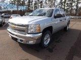 2013 Silver Ice Metallic Chevrolet Silverado 1500 LT Crew Cab 4x4 #75881106