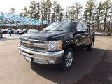 2013 Black Chevrolet Silverado 1500 LT Crew Cab #75881104