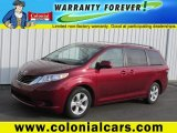 2011 Salsa Red Pearl Toyota Sienna LE #75881183