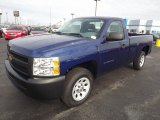 2013 Blue Topaz Metallic Chevrolet Silverado 1500 Work Truck Regular Cab #75880975