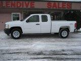 2008 Summit White Chevrolet Silverado 1500 Work Truck Extended Cab 4x4 #75881144