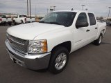 2013 Summit White Chevrolet Silverado 1500 LT Crew Cab 4x4 #75880971