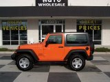 2012 Crush Orange Jeep Wrangler Sport S 4x4 #75924869